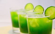 Health Tip:    Cucumber juices is believed to be the best juice for healthy skin.     Consisting of over 90-percent water, cucumbers are a naturally cooling and hydrating food. Plus, they're rich in minerals such as potassium, magnesium, and silica, which is believed to improve complexion and youthful radiance of your skin.     So grab a glassful and gulp it down for a radiant youthful skin!!