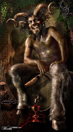 THE GREAT GOD PAN - In ancient Roman religion and myth, Faunus was the horned god of the forest, plains and fields; when he made cattle fertile he was called Inuus. He came to be equated in literature with the Greek god Pan.