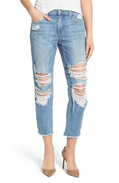 Joe's 'Sawyer' Distressed Crop Jeans (Livvy) available at #stitchfix