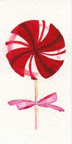 watercolor lollipop by Mindi Leatham, via Flickr