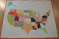 us map baby quilt tutorial - Sewn Studio