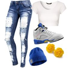 """Untitled #55"" by pmwpalaja on Polyvore cheap Air Jordan 5 LANEY only $ 54, save up to 68% off"