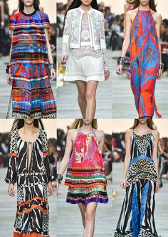 #Fashion: Roberto Cavalli #SS15: Geometrically Spliced Animal Skins – Bold Monochrome – Pleating & Marbling – Ribbon Stripe – Mixed Pattern Stripe – Vibrant Brights