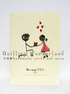 Engagement quilling