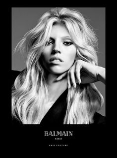 Balmain Paris Hair Couture presents the Spring/Summer 2016 Campaign starring Balmain muses Noémie Lenoir, Cindy Bruna and Devon Windsor.  Devon Windsor: Femme Fatale Introduced this April, this will be the look for 2016 created with the Balmain Hair Half Wig. The Half Wig creates instant volume, with a spritz of the Balmain Texturizing Volume Spray to give this style an extra boost.