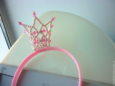 """Купить Корона-ободок """"Белянка"""" - белый, корона, ободок, обруч, обруч для волос, новогоднее украшение"""