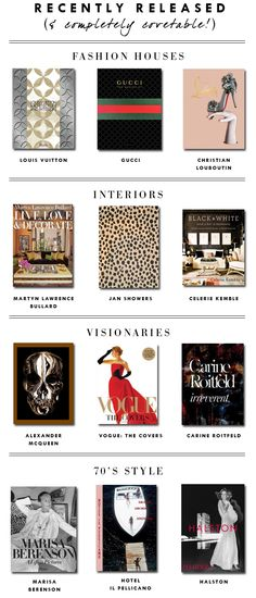 Coffee Table Books: BOOKMARKED: Recently Released, Completely Covetable | Erika Brechtel | Brand Stylist