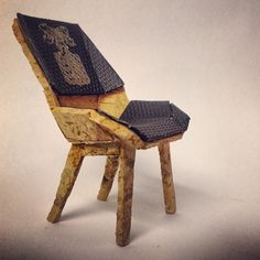 Love this miniature Kanter chair made for the Design Within Reach Champagne Chair contest - using corks, etc.
