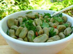 Portuguese Fava Beans With Cilantro Recipe