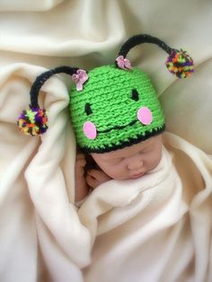 Items similar to Baby Girl Caterpillar Beanie Character Hat, Costume, Newborn, gifts on Etsy Crochet Ideas, Crochet Patterns, Baby Beanies, Berets, Crochet Things, Baby Costumes, Newborn Gifts, Caterpillar, Costume Ideas