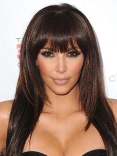kim kardashian hairstyle. hair extensions