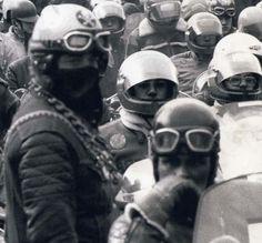 sea of helmets