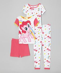 Take a look at this Pink 'Pinkie Pie' Pajama Set - Girls by My Little Pony on #zulily today!