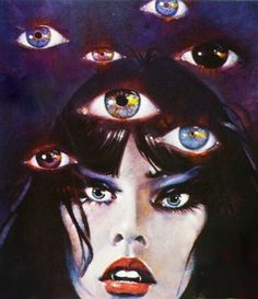 Psychic vampire woman ChloeLikesCrumpets You saved to Satanic Kitsch 186 Arte Horror, Horror Art, Horror Drawing, Retro Art, Vintage Art, Bd Comics, Arte Sketchbook, Wow Art, Vintage Horror