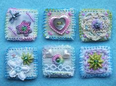 Inchies.   What sweet little projects, easy take along.