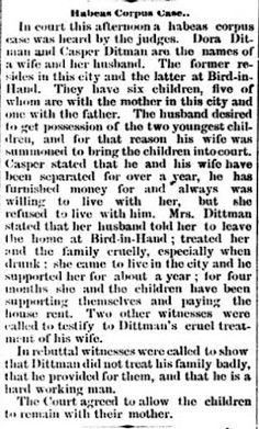 Genealogical Gems: On This Day: Court decides on custody