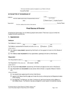 Divorce In Texas - Fill Online, Printable, Fillable, Blank Doctors Note Template, Notes Template, Printable Divorce Papers, Marriage License Application, Divorce Forms, Vital Records, Health Insurance Companies, Fill, Quotes