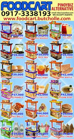 Food Cart Business, Siomai, Sisig, Belgian Waffles, Manila, Hot Dogs, Ph, Belgium Waffles