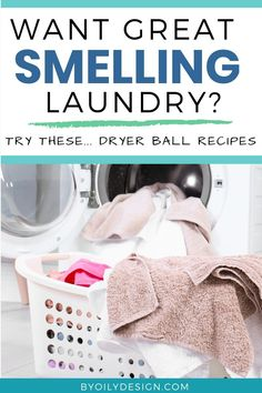 If you're battling a mildew smell in your clothes or you just want great smelling laundry you should try out these wool dryer ball recipes. You can easily have a non toxic laundry alternative that doesn't fill your clothing with toxins. Our favorite non toxic dryer balls are filled with essential oils. Essential oil dryer balls recipes can be as simple as dropping your favorite essential oils on your dryer balls before throwing them in. Add this to your list of eco friendly cleaning tips! Essential Oils Cleaning, Essential Oils For Skin, Essential Oil Diffuser Blends, Essential Oil Uses, Young Living Essential Oils, Diffuser Recipes, Laundry Alternative, Laundry Tips, Laundry Room