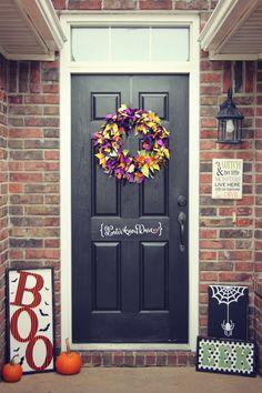 DIY Halloween front door