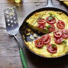 Potato Crusted Quiche.....
