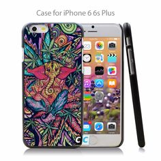 Trippy Elephant Trippy Weed Hard Black Case Cover Shell Coque for iPhone 4 4s 4g 5 5s 5g 5c 6 6g 6 Plus