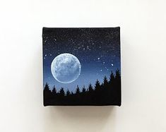 Small Canvas Paintings, Small Canvas Art, Mini Canvas Art, Mini Paintings, Cool Paintings, Art Painting Gallery, Painting & Drawing, Acrylic Art, Watercolor Art