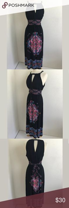 Soho Apparel maxi dress SKU: SD14574  Length Shoulder To Hem: 53 Bust: 39 Waist: 32 Fabric Content: 95% polyester, 5% Spandex Lining Fabric: 100% polyester Soho Apparel Dresses Maxi