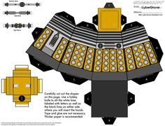 Dalek PRINTABLE - perfect for the Doctor Who fan! Very easily done, but it does take some finesse with cutting out the smaller pieces. Make sure you print on card stock or similar heavy paper and if you don't have an exacto knife, use a razor blade! *MCB
