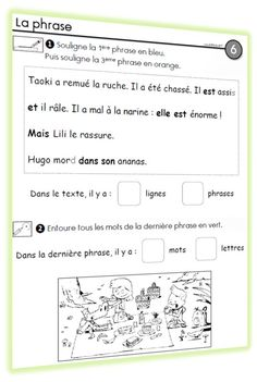 Great activity for working on conventions of sentences in French. Read In French, Learn French, French Teacher, Teaching French, French Sentences, French Worksheets, Core French, Teachers Corner, Classroom Games