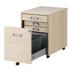 Ikea Galant Filing System. Rolls Under Desk. Great Drawers For Supplies.  One File