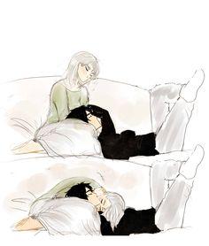 ✏ Couple Anime Manga, Anime Love Couple, Cute Anime Couples, Anime Guys, Manga Anime, Romantic Anime Couples, Cute Couple Drawings, Cute Couple Art, Anime Couples Drawings