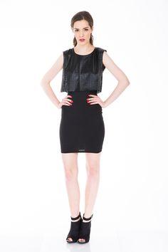 #rochie top crop Fashion Addict, Crop Tops, Black, Dresses, Vestidos, Black People, Dress, Gowns, Clothes