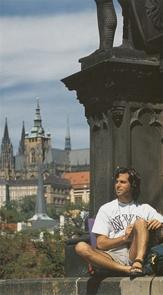 Prague Study Abroad (undated): An NYU student relaxing during his study abroad in Prague. NYU continues to offer a wide array of study abroad options in countries and cities across the globe, spanning six continents.