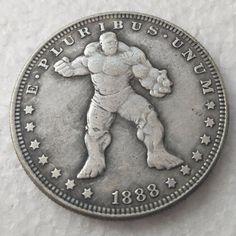 Dollar Size Hobo Nickel Style Marvel SPIDER-MAN 1893S Morgan Fantasy Coin