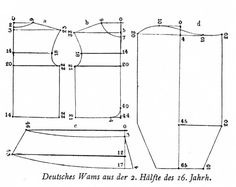 1550ca_Pattern_-_Wams.jpg 850×676 pixels. Substitute your own measurements to create a doublet