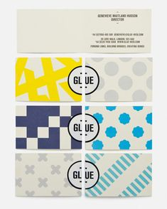 Glue branding by Magpie Studio, London This is awesome. love the color, very modern and still fun