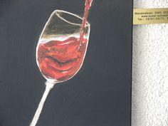 """Rotweinglas mit Inhalt"" von Emo S C H U S C H N I G"