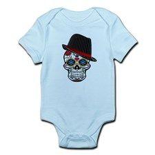 Hipster Skull Body Suit