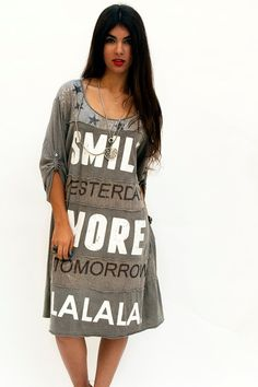 Verkauf gedruckt Olive Brown Kleid braune von sevenseventyfashion