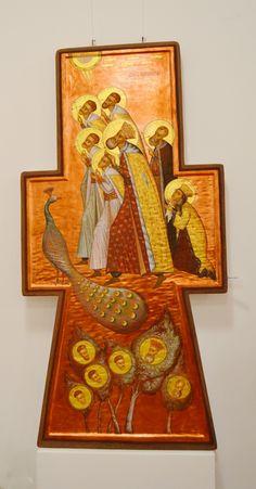 Romania-by Elena Murariu~~~Icon Orthodox Icons, Mystical Art, Drawings, Painting, Stylized, Church Art, Art, Christian Art, Sacred Art