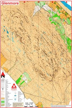 Orienteering map from Ireland: yellow and black Ireland, Europe, Map, Yellow, World, Painting, Black, Black People, Location Map
