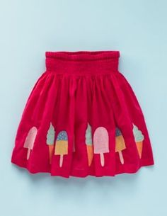 ice cream / freeze pop applique skirt! yum!