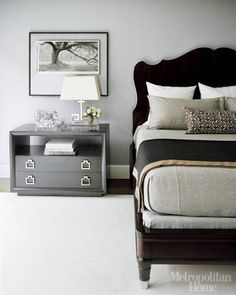 Grey and Black Bedroom