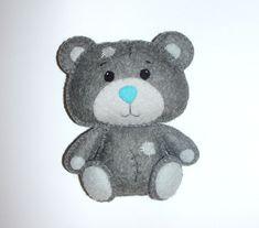 Wool Felt Tatty Teddy Bear Ornament