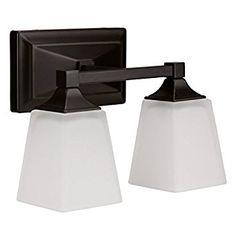 "Light Blue™ LED 2-Light Bath Vanity light, Oil Rubbed Bronze, 15-Watt (120W Equiv.) 4000K Cool White, 1050 Lumens, 12""W, LED Wall Sconce Fixture, ETL and ENERGY STAR Listed - - Amazon.com"