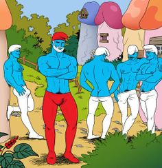 Post with 4304 votes and 14574 views. A friendly reminder that before Gargamel created Smurfette, there were no female Smurfs. Caricature, Tom Of Finland, Smurfette, Gay Comics, Art Sculpture, Adult Cartoons, Adult Humor, Funny Cartoons, Gay Art