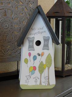 Nistkästen & Vogelhäuser - Vogelhaus Nistkasten für Abschlußgeschenk Schule - ein Designerstück von inse-10 bei DaWanda