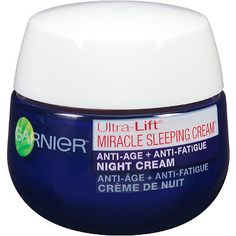 GarnierUltra-Lift Miracle Sleeping Night Cream with hyaluronic acid.  $17. in Real Simple