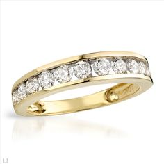 $699.00  Stunning Brand New Channel Ring With 1.00ctw Genuine  Diamonds in Yellow Gold- Size 7 - Certificate Available.